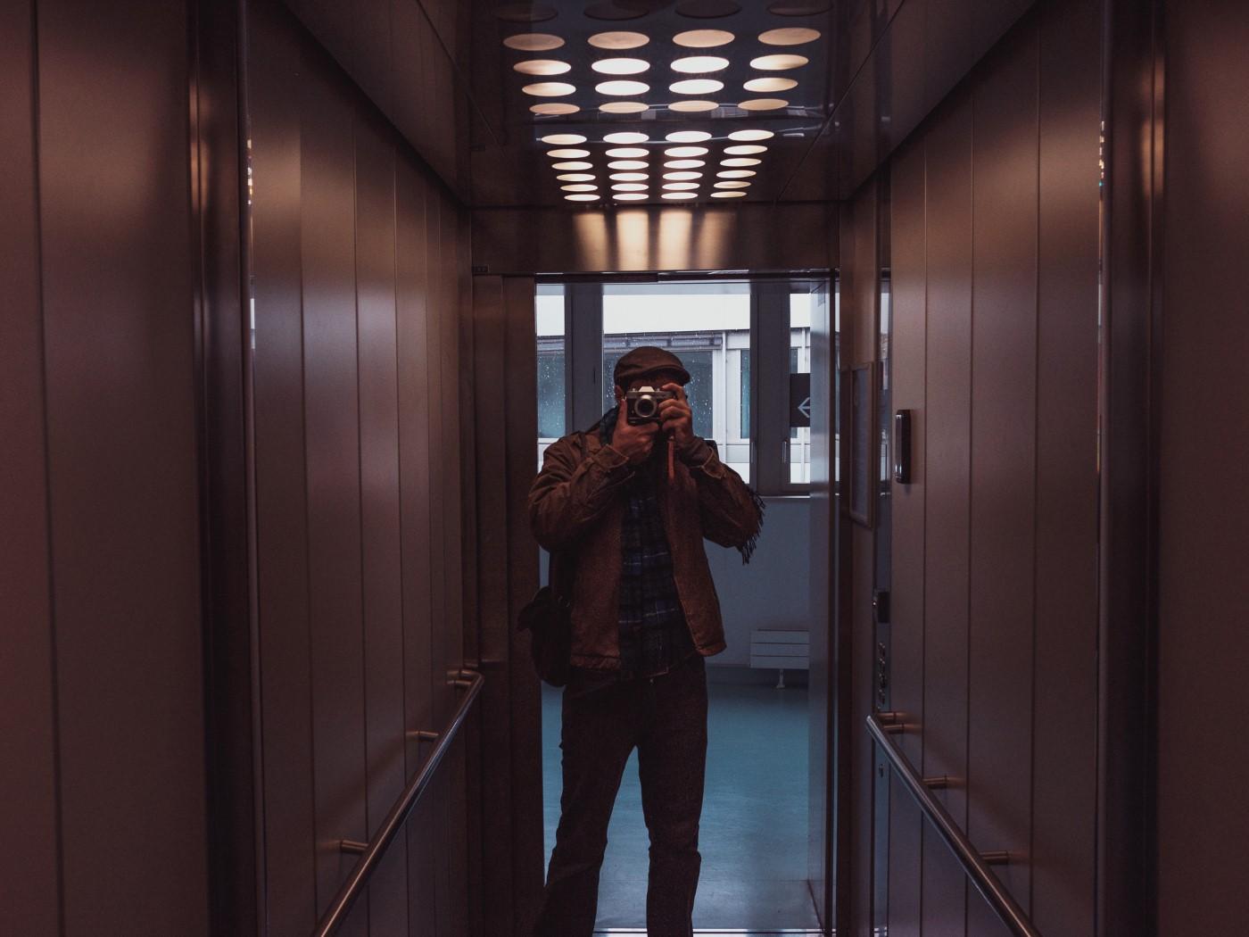 Auto-retrato de elevador